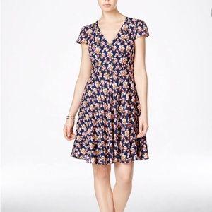 Betsey Johnson Floral Chiffon Fit & Flare Dress